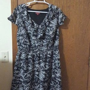 Merona black and white dress